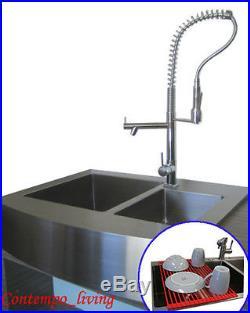 36 Stainless Steel Farm Apron Kitchen Sink 16 gauge Double Bowl
