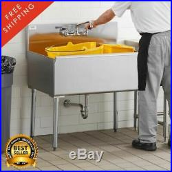 36 X 24 X 14 Bowl Stainless Steel Commercial Utility Prep 36 1 Sink 16 Gauge