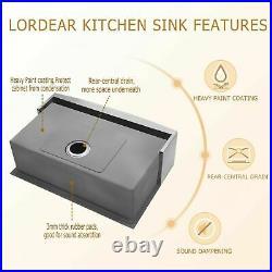 36 inch Apron Farmhouse Sink Luxury Kitchen Farm Sink 16 Gauge Stainless Steel