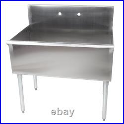36 x 21 x 14 Freestanding Utility Stainless Steel 16-Gauge Commercial Sink Bowl