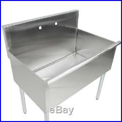 3636 X 24 X 14 Bowl Stainless Steel Commercial Utility Prep 1 Sink