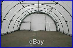 40' x 80' x 22' Canvas Fabric/Heavy Gauge Steel Storage Building/Shop/Garage