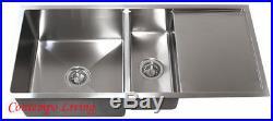 42 16 Gauge Stainless Steel Undermount Kitchen sink w 13 drainer Drain Board