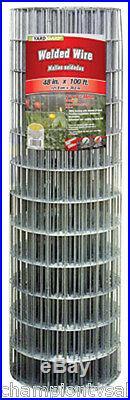 48 x 100', 4 x 2 Mesh, Galvanized Welded Wire, 14 Gauge. 297146