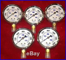5 brand new 6000 PSI scuba paintball compressor gauge