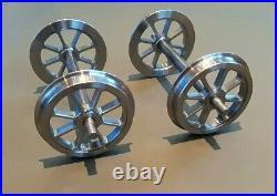 5 gauge Set of 4 8 Spoke Wagon Wheels on Axles