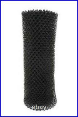 50' Of 6' High Black Pool Code Chain Link Wire 1-1/4 Mesh Fabric 11 Gauge