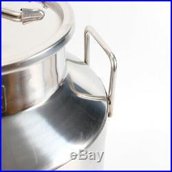 50L Milk Can Wine Pail Honey Bucket Heavy Gauge Restaurant Use Stainless Steel