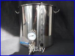 50ltr stainless steel stockpot tap temperature gauge sight glass HLT kettle