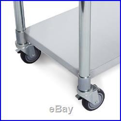 60 x 24 18 Gauge Undershelf Storage Commerical Work Prep Table Stainless Steel