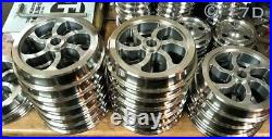 7 1/4 Narrow Gauge Set of 4 Curly Spoke Wheels