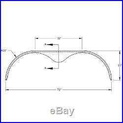 72x10 3/4 Tandem Axle 16-Gauge Steel Trailer Fender Pre Sanded