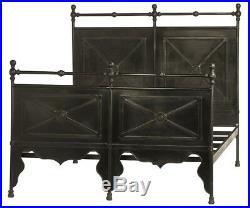 81 Artemisia Bed Queen Hand Crafted Steel Pipe Frame Heavy Gauge Metal Panels