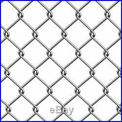 ALEKO Galvanized Steel 6 X 50 Feet Roll Chain Link Fence Fabric 12.5-AW Gauge