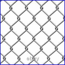ALEKO Galvanized Steel Chain Link Fence Fabric 11.5-AW Gauge 6 X 50 Feet Roll