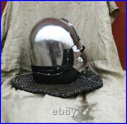 Antique Custom SCA HNB 14 Gauge Steel Medieval Combat Pig Faced Bascinet Helmet