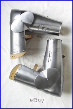Arm sca larp combat armor full arms plates with counters caps 18 gauge steel gif