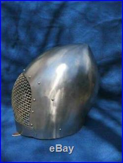 Armor Medieval Close Helmet 16 Gage Steel Armor Helmet Handmade Gift Item