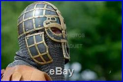 Armor Viking Nasal Helmet Medieval 16 Gage Steel Chain Mail Helmet Gift Item