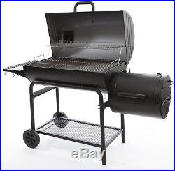 Barrel Grill Adjustable Charcoal Grate Horizontal Smoker Heavy Gauge Steel Black