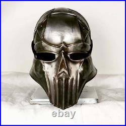 Blackened 18 Gauge Steel Medieval Demonic Face Vader Sallet Helmet