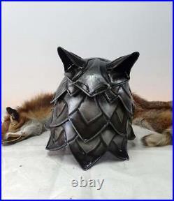Blackened 18 Gauge Steel Medieval Great Wolf Helmet II