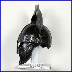 Blackened 18 Gauge Steel Medieval Heimdall Fantasy Viking Helmet