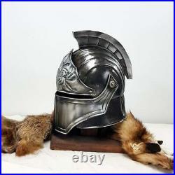 Blackened 18 Gauge Steel Medieval Legionnaire Fantasy Helmet