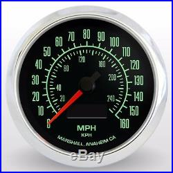 C2 60s Muscle 3-3/8 Electronic Speedometer, 2952SS, Stainless Steel Bezel