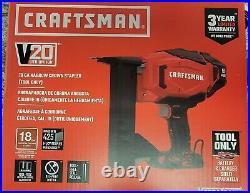 CRAFTSMAN- CMCN618B- 20V MAX 2 inch 18-Gauge Cordless Brad Nailer- Brand New