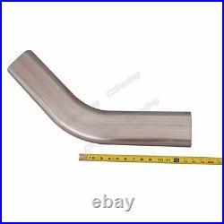 CXRacing 3.5 Oval 45 Degree 304 Stainless Steel Pipe 16 Gauge Mandrel Bend