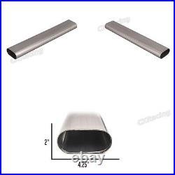 CXRacing 3.5 Oval Straight 304 Stainless Steel Pipe 16 Gauge 24 Long