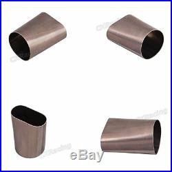 CXRacing 3.5 Round Oval 304 Stainless Steel Adapter Coverter Pipe 16 Gauge