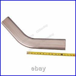 CXRacing 3 Oval 45 Degree 304 Stainless Steel Pipe 16 Gauge Mandrel Bend