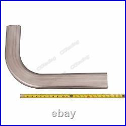 CXRacing 3 Oval 90 Degree 304 Stainless Steel Pipe 16 Gauge Mandrel Bend