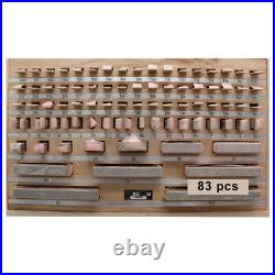 Certificated Gage Block Set 38 Pcs Grade 0 Slip Jo blocks 1-100mm