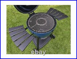 Char Griller E56720 AKORN Charcoal Grill Kamado Gauge Blue Outdoor Cooking New