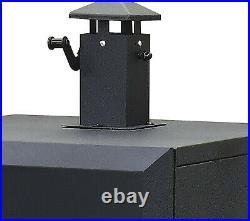 Charcoal Offset Smoker Dyna-Glo Heavy gauge porcelain enameled steel wood chip