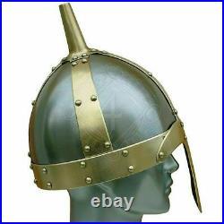 Collectible 18 gauge Steel Medieval Knight Slavonic Viking Helmet Costume Gift