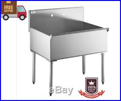 Commercial Utility Sink Stainless Steel 36 X 24 X 14 Bowl 16 Gauge New Trend