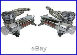 Complete Air Ride Suspension Kit Chevy 88-98 C15 Manifold Valve Bags 480 Chrome