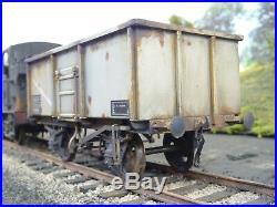 Dapol O Gauge Br 16t Steel Mineral Wagon B563829 & Load Lineside Weathered Box