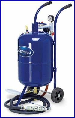 Eastwood Soda Blaster All Steel Welded Top Loading Hopper And Pressure Gauge