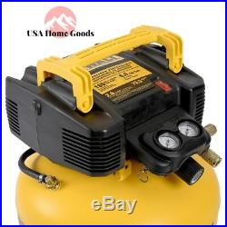 Electric Air Compressor Combo 18-Gauge Brad Nailer and 6 Gal. Heavy Duty Pancake