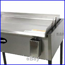 Ematik Griddle 31 100% Heavy Duty Gauge Steel Stainless Steel Catering Grill