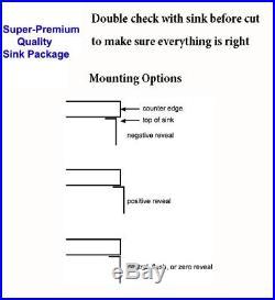 Extra Thick 16 Gauge Single Undermount Stainless Steel Kitchen Sink 605 31 inch