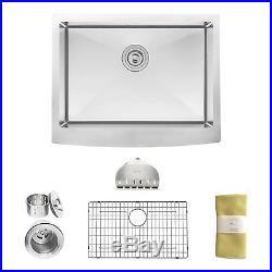 Farmhouse Apron Deep Single Bowl 16 Gauge Stainless Steel Luxury Kitchen Sink