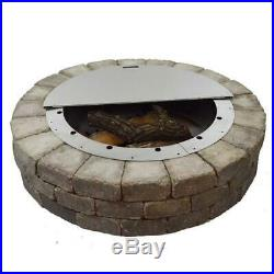 Firebuggz 40 Round Stainless Steel Fire Pit Cover 14 gauge 430 stainless