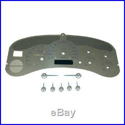 For Chevy Avalanche 2500 02 Stainless Steel Gauge Face Kit w Blue Numbers