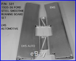 Ford Car Steel Running Board Set 1935-1936 Fits all Models Premium 16 Gauge #591